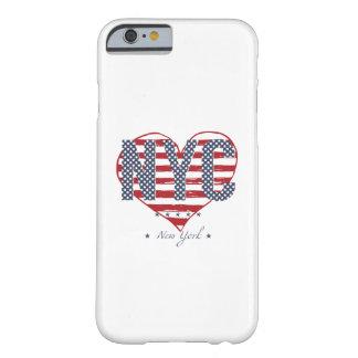 Coeur de drapeau américain de NYC Coque Barely There iPhone 6