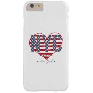 Coeur de drapeau américain de NYC Coque iPhone 6 Plus Barely There