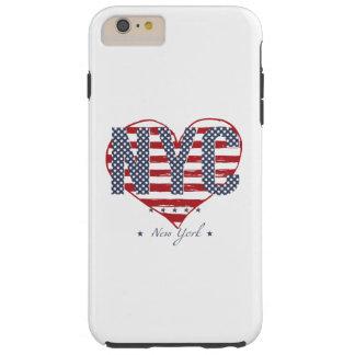 Coeur de drapeau américain de NYC Coque iPhone 6 Plus Tough