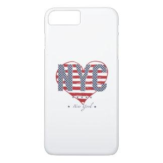 Coeur de drapeau américain de NYC Coque iPhone 7 Plus