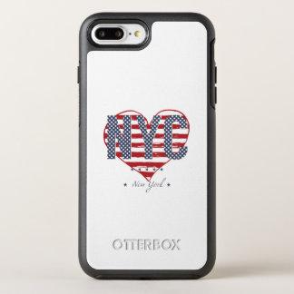 Coeur de drapeau américain de NYC Coque Otterbox Symmetry Pour iPhone 7 Plus