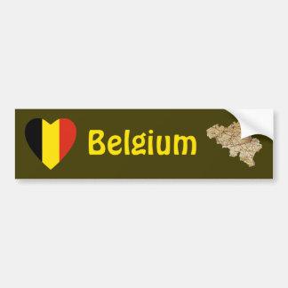Coeur de drapeau de la Belgique + Adhésif pour par Adhésif Pour Voiture