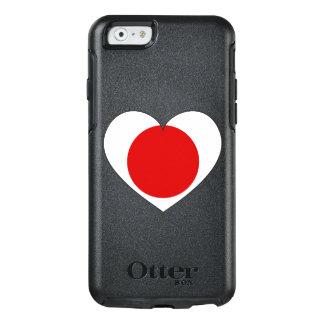 Coeur de drapeau du Japon Coque OtterBox iPhone 6/6s
