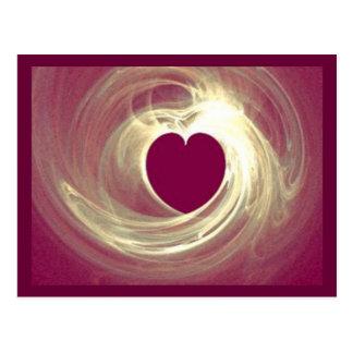 Coeur de framboise carte postale