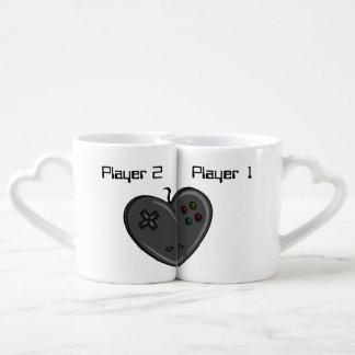 Coeur de Gamer de couples du joueur 1 et 2 Mug