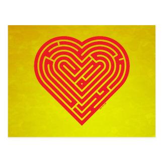Coeur de labyrinthe carte postale