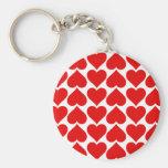 Coeur de l'amour porte-clé rond