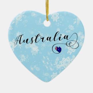 Coeur de l'Australie, ornement d'arbre de Noël