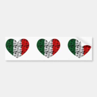 Coeur de l'Italie Autocollant De Voiture