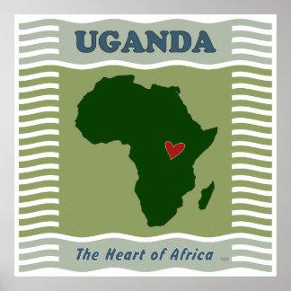 Coeur de l'Ouganda de l'Afrique
