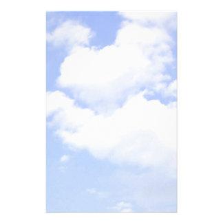 Coeur de papeterie de nuages