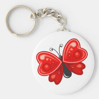 coeur de papillon porte-clés