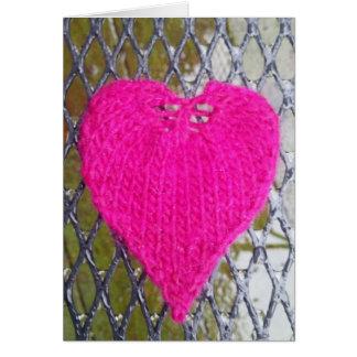Coeur de roses indien sur la carte de maille