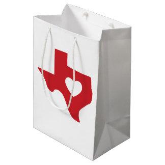 Coeur de sac de cadeau du Texas