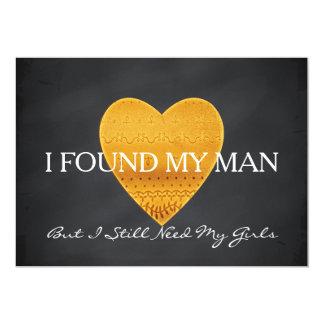 Coeur de scintillement d'or vous serez ma carton d'invitation  12,7 cm x 17,78 cm