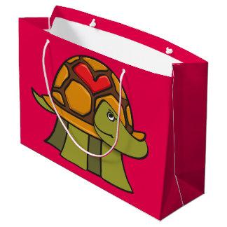 Coeur de Shell de tortue Grand Sac Cadeau
