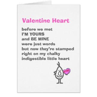 Coeur de Valentine Carte De Vœux