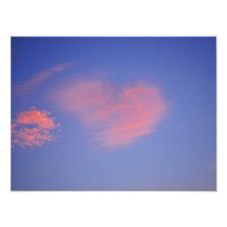 Coeur des nuages - pression de photo