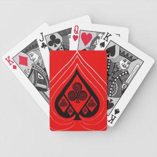 Coeur des pelles jeux de cartes