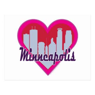 Coeur d'horizon de Minneapolis Carte Postale