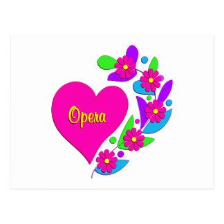 Coeur d'opéra carte postale