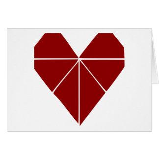 Coeur d'origami carte