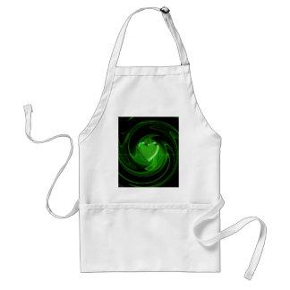 Coeur en spirale vert tablier