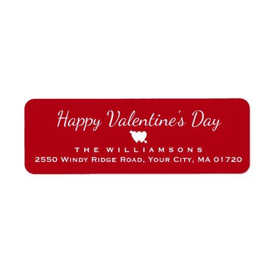 Coeur et flèche de heureuse Sainte-Valentin Étiquettes D'adresse Retour