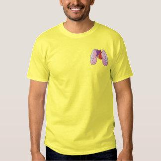 Coeur et poumon  t-shirt brodé