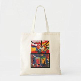 Coeur et statue 2 colorés de sac de liberté