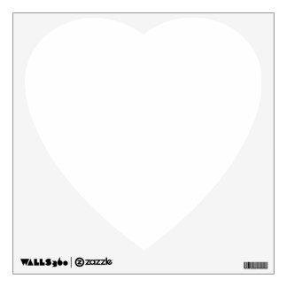 Coeur fait sur commande de décalque de mur