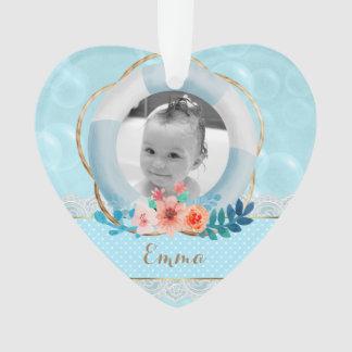 Coeur floral de dentelle nautique de point de bébé
