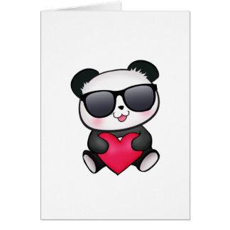 Coeur frais de Saint-Valentin de lunettes de solei Carte De Vœux