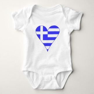 Coeur grec de drapeau génial body
