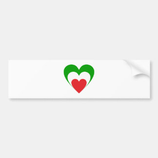 Coeur Italie Italy Italia heart Autocollant De Voiture