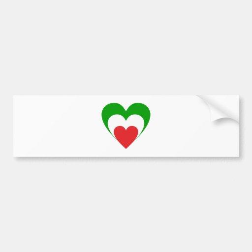Coeur Italie Italy Italia heart Autocollants Pour Voiture