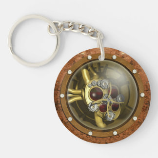 Coeur mécanique de Steampunk Porte-clé Rond En Acrylique Double Face