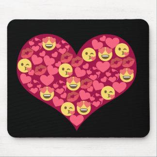 Coeur mignon d'Emoji de lèvres de baiser d'amour Tapis De Souris