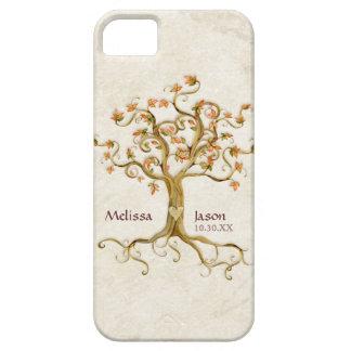 Coeur personnalisé de noms Antiqued par racines Étuis iPhone 5