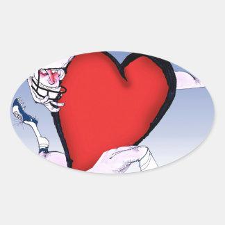 coeur principal de la Caroline du Nord, fernandes Sticker Ovale