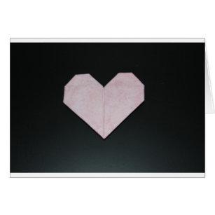 coeur rose simple d'origami