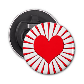 Coeur rouge décapsuleur