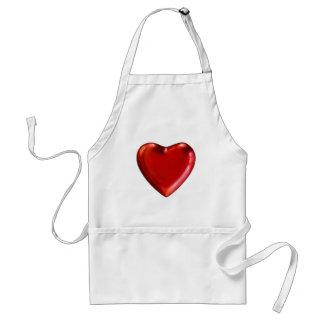 Coeur rouge tablier