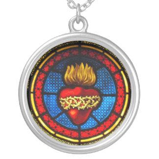 Coeur sacré (collier en verre souillé de J&M) Pendentifs