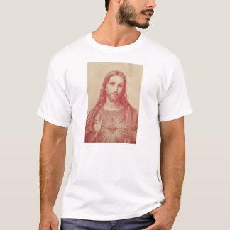 Coeur sacré de cru de T-shirt de Jésus