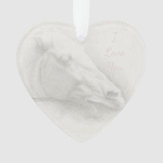 Coeur vintage de dessin de tête de portrait de