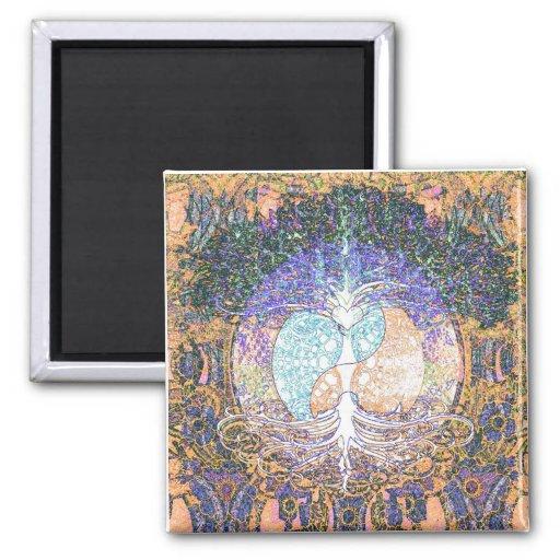 Coeur, yang de yin, arbre de la vie par Amelia Car Aimant