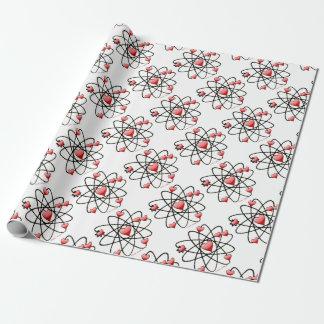 Coeurs atomiques de rouge de Valentine Papier Cadeau