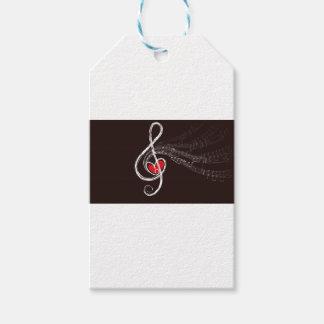 Coeurs de musique étiquettes-cadeau