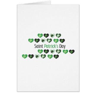 Coeurs du jour de Patrick de saint mini Carte De Vœux